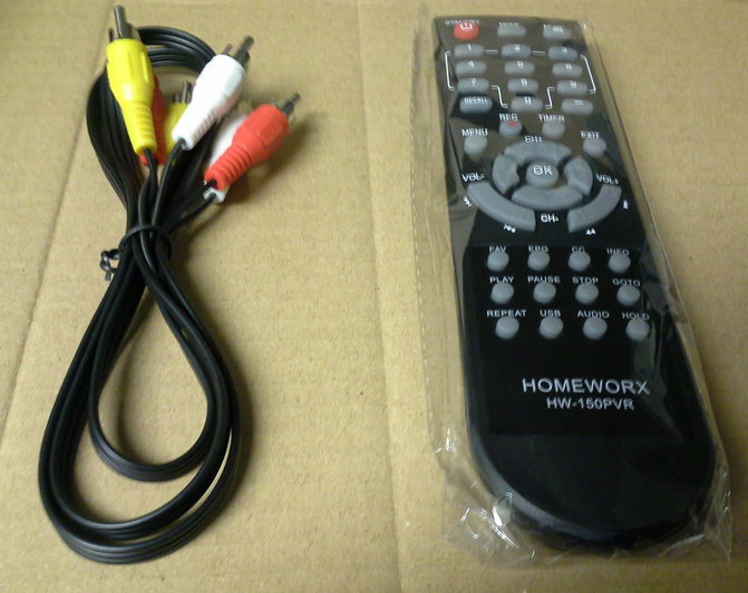 mediasonic_hw150pvr_remote_and_cable